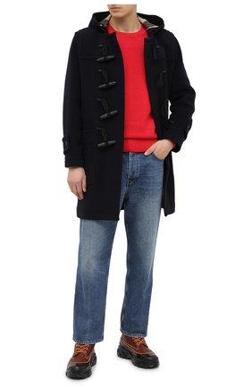 Мужской шерстяное пальто BURBERRY синего цвета, арт. 8033638 | Фото 2
