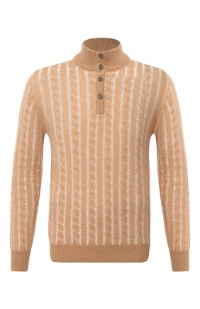 Мужской кашемировый свитер FIORONI бежевого цвета, арт. MK21005C3 | Фото 1