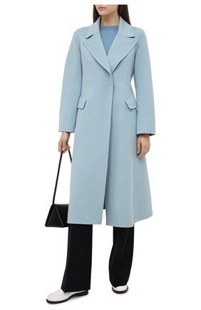 Женский пуловер из шелка и хлопка LORO PIANA голубого цвета, арт. FAI5188   Фото 2