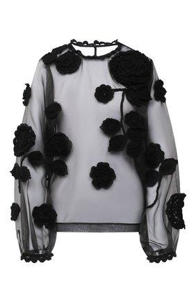 Женская блузка DOLCE & GABBANA черного цвета, арт. F74X2Z/GD0R1 | Фото 1