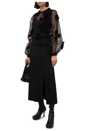 Женская блузка DOLCE & GABBANA черного цвета, арт. F74X2Z/GD0R1 | Фото 2