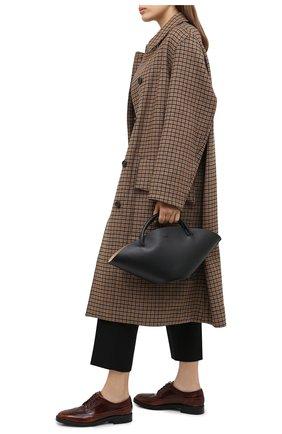 Женская кожаные дерби TOD'S коричневого цвета, арт. XXW60C0DE20EB5   Фото 2