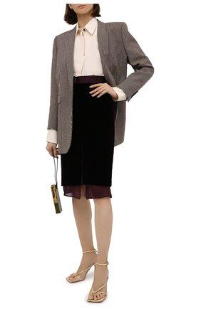 Женская юбка TOM FORD сиреневого цвета, арт. GC5521-FAX103 | Фото 2