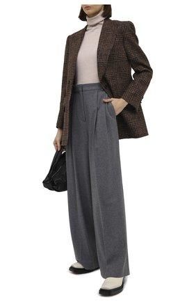 Женский пуловер из кашемира и шелка KITON бежевого цвета, арт. D50702013 | Фото 2