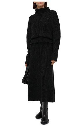 Женская юбка из кашемира и шерсти RALPH LAUREN темно-серого цвета, арт. 293835481 | Фото 2
