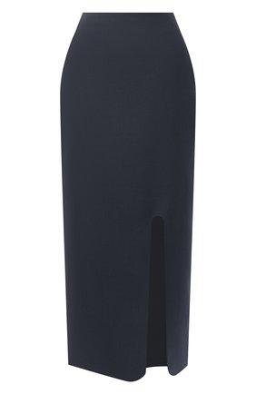 Женская шерстяная юбка JIL SANDER синего цвета, арт. JSWR355310-WR201000   Фото 1