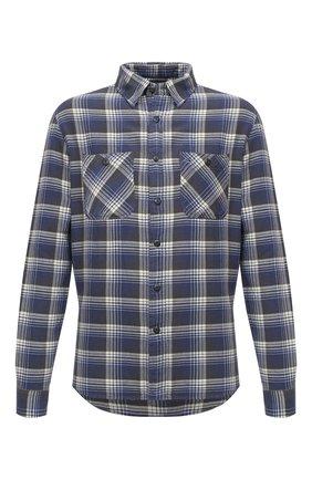Мужская хлопковая рубашка RRL синего цвета, арт. 782799915 | Фото 1