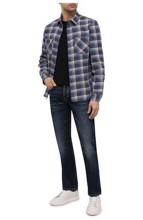 Мужская хлопковая рубашка RRL синего цвета, арт. 782799915 | Фото 2