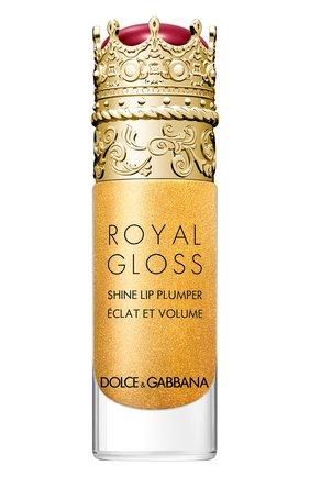 Женские блеск для губ с эффектом объема royal gloss, secret gold DOLCE & GABBANA бесцветного цвета, арт. 30700089DG   Фото 1