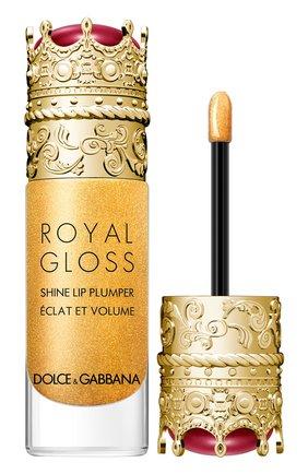 Женские блеск для губ с эффектом объема royal gloss, secret gold DOLCE & GABBANA бесцветного цвета, арт. 30700089DG   Фото 2
