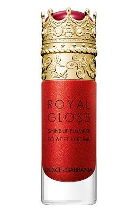 Женские блеск для губ с эффектом объема royal gloss, jewel red DOLCE & GABBANA бесцветного цвета, арт. 3124050DG | Фото 1