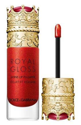 Женские блеск для губ с эффектом объема royal gloss, jewel red DOLCE & GABBANA бесцветного цвета, арт. 3124050DG | Фото 2