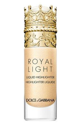 Жидкий хайлайтер royal light, оттенок divine gold DOLCE & GABBANA бесцветного цвета, арт. 3124150DG | Фото 1