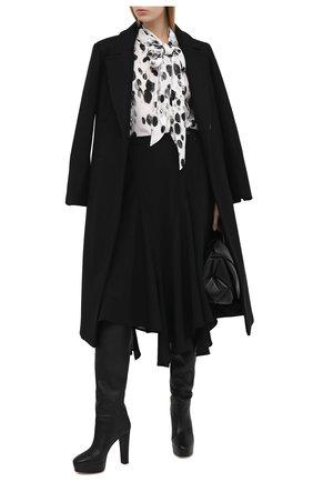 Женские кожаные сапоги chambord AQUAZZURA черного цвета, арт. CMBMIDB0-SCA-000 | Фото 2