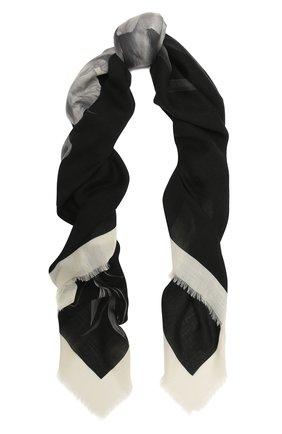 Женская шаль valentino garavani из кашемира и шелка VALENTINO черного цвета, арт. UW0EB104/JSC | Фото 1