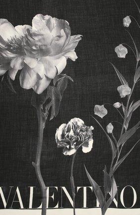 Женская шаль valentino garavani из кашемира и шелка VALENTINO черного цвета, арт. UW0EB104/JSC | Фото 2