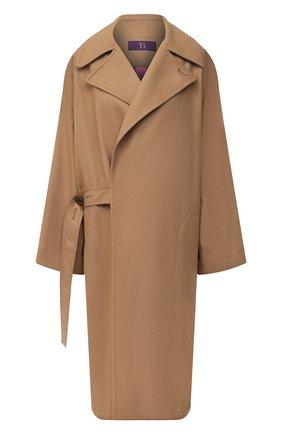 Женское шерстяное пальто Y`S бежевого цвета, арт. YB-C41-131   Фото 1