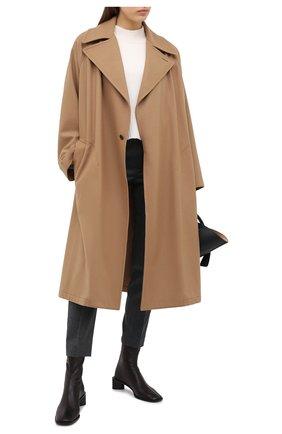 Женское шерстяное пальто Y`S бежевого цвета, арт. YB-C41-131   Фото 2