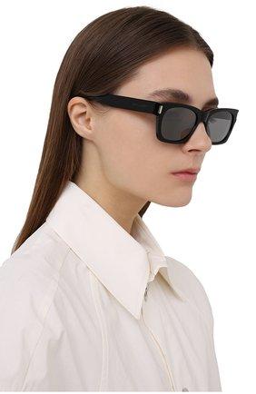 Женские солнцезащитные очки SAINT LAURENT черного цвета, арт. SL 402 | Фото 2