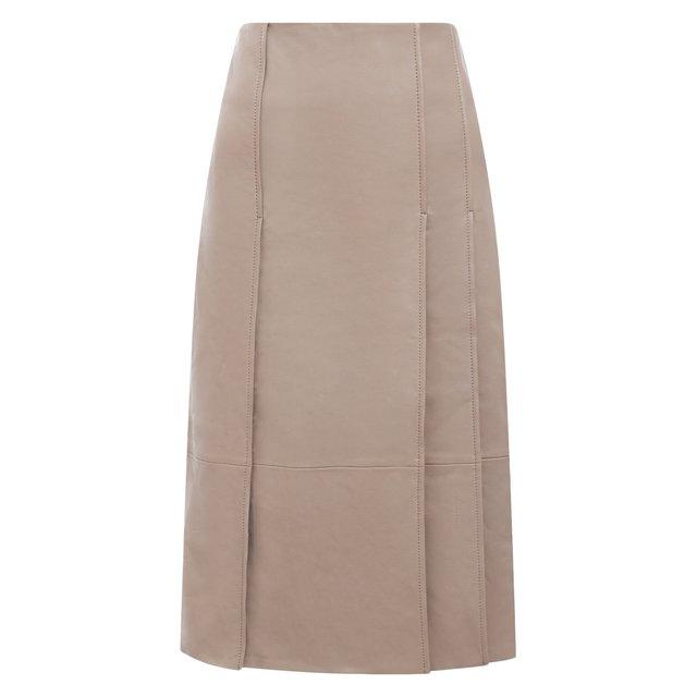 Кожаная юбка Yves Salomon