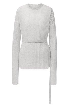 Женский пуловер HELMUT LANG серого цвета, арт. K06HW716   Фото 1
