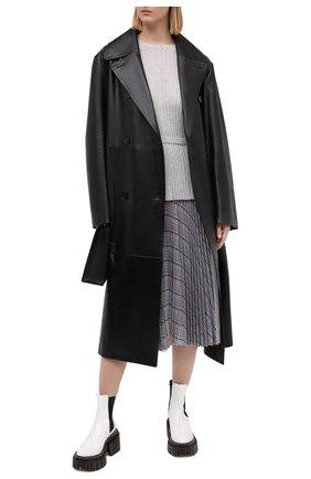 Женский пуловер HELMUT LANG серого цвета, арт. K06HW716   Фото 2