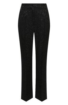 Женские брюки DOLCE & GABBANA черного цвета, арт. JD12AT/FJRDI | Фото 1
