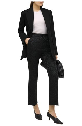 Женские брюки DOLCE & GABBANA черного цвета, арт. JD12AT/FJRDI | Фото 2