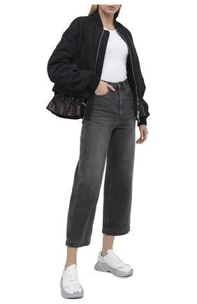 Женские комбинированные кроссовки DOLCE & GABBANA серебряного цвета, арт. CK1791/AW615 | Фото 2