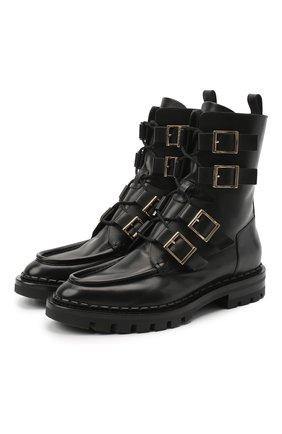 Женские кожаные ботинки SANTONI черного цвета, арт. WTCR59109HL1NBCKN01 | Фото 1