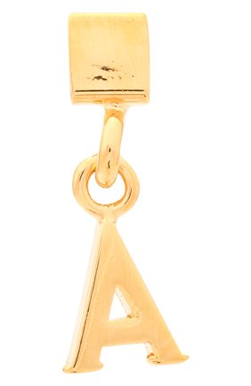 Женская подвеска с буквой a CHLOÉ золотого цвета, арт. CHC17UF01ACB7 | Фото 1 (Материал: Металл)