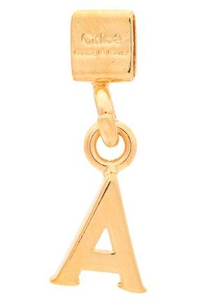 Женская подвеска с буквой a CHLOÉ золотого цвета, арт. CHC17UF01ACB7 | Фото 2 (Материал: Металл)