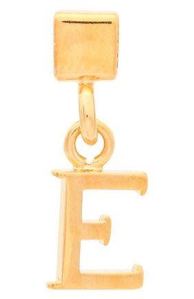 Женская подвеска с буквой e CHLOÉ золотого цвета, арт. CHC17UF01ECB7 | Фото 1 (Материал: Металл)