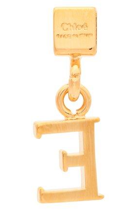 Женская подвеска с буквой e CHLOÉ золотого цвета, арт. CHC17UF01ECB7 | Фото 2 (Материал: Металл)