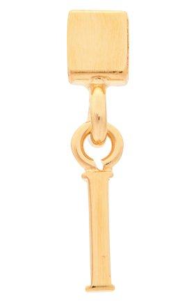 Женская подвеска с буквой i CHLOÉ золотого цвета, арт. CHC17UF01ICB7 | Фото 1 (Материал: Металл)