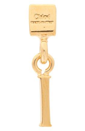 Женская подвеска с буквой i CHLOÉ золотого цвета, арт. CHC17UF01ICB7 | Фото 2 (Материал: Металл)