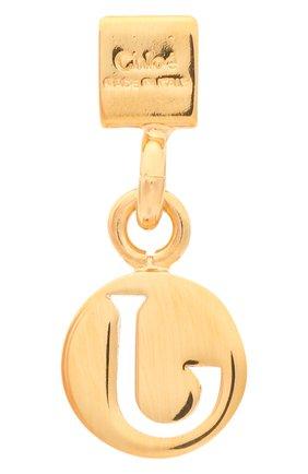 Женская подвеска с буквой j CHLOÉ золотого цвета, арт. CHC17UF01JCB7 | Фото 2 (Материал: Металл)