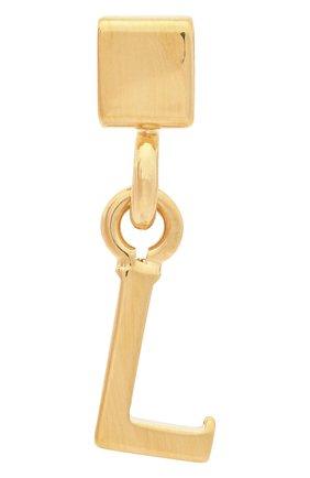Женская подвеска с буквой l CHLOÉ золотого цвета, арт. CHC17UF01LCB7 | Фото 1 (Материал: Металл)