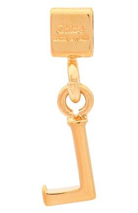 Женская подвеска с буквой l CHLOÉ золотого цвета, арт. CHC17UF01LCB7 | Фото 2 (Материал: Металл)