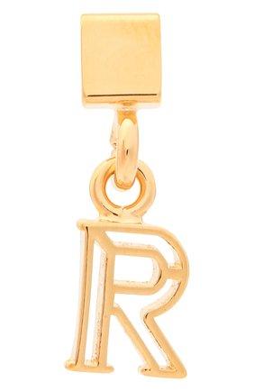 Женская подвеска с буквой r CHLOÉ золотого цвета, арт. CHC17UF01RCB7 | Фото 1 (Материал: Металл)