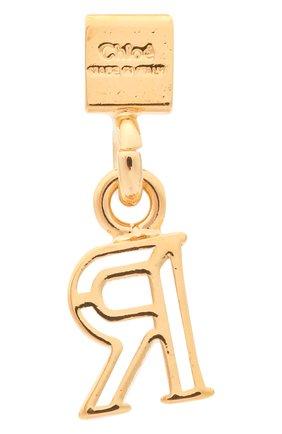 Женская подвеска с буквой r CHLOÉ золотого цвета, арт. CHC17UF01RCB7 | Фото 2 (Материал: Металл)