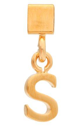 Женская подвеска с буквой s CHLOÉ золотого цвета, арт. CHC17UF01SCB7 | Фото 1 (Материал: Металл)