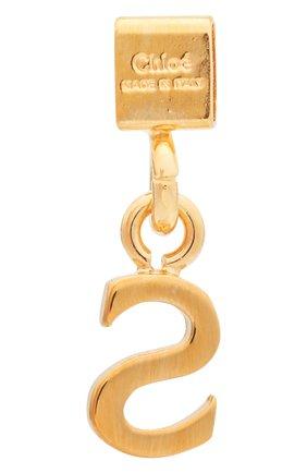 Женская подвеска с буквой s CHLOÉ золотого цвета, арт. CHC17UF01SCB7 | Фото 2 (Материал: Металл)
