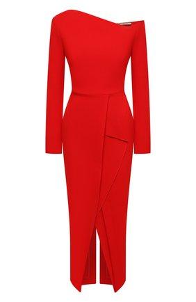 Женское шерстяное платье ROLAND MOURET красного цвета, арт. PW20/S0919/F4044   Фото 1