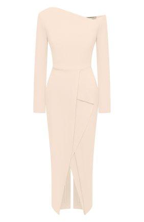 Женское шерстяное платье ROLAND MOURET светло-розового цвета, арт. PW20/S0919/F4044 | Фото 1