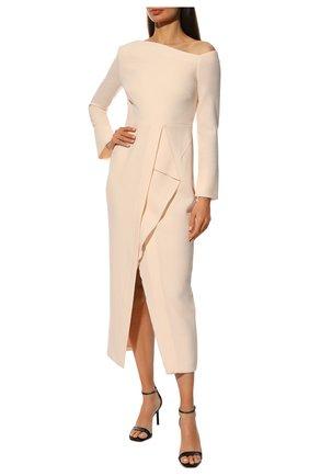 Женское шерстяное платье ROLAND MOURET светло-розового цвета, арт. PW20/S0919/F4044 | Фото 2