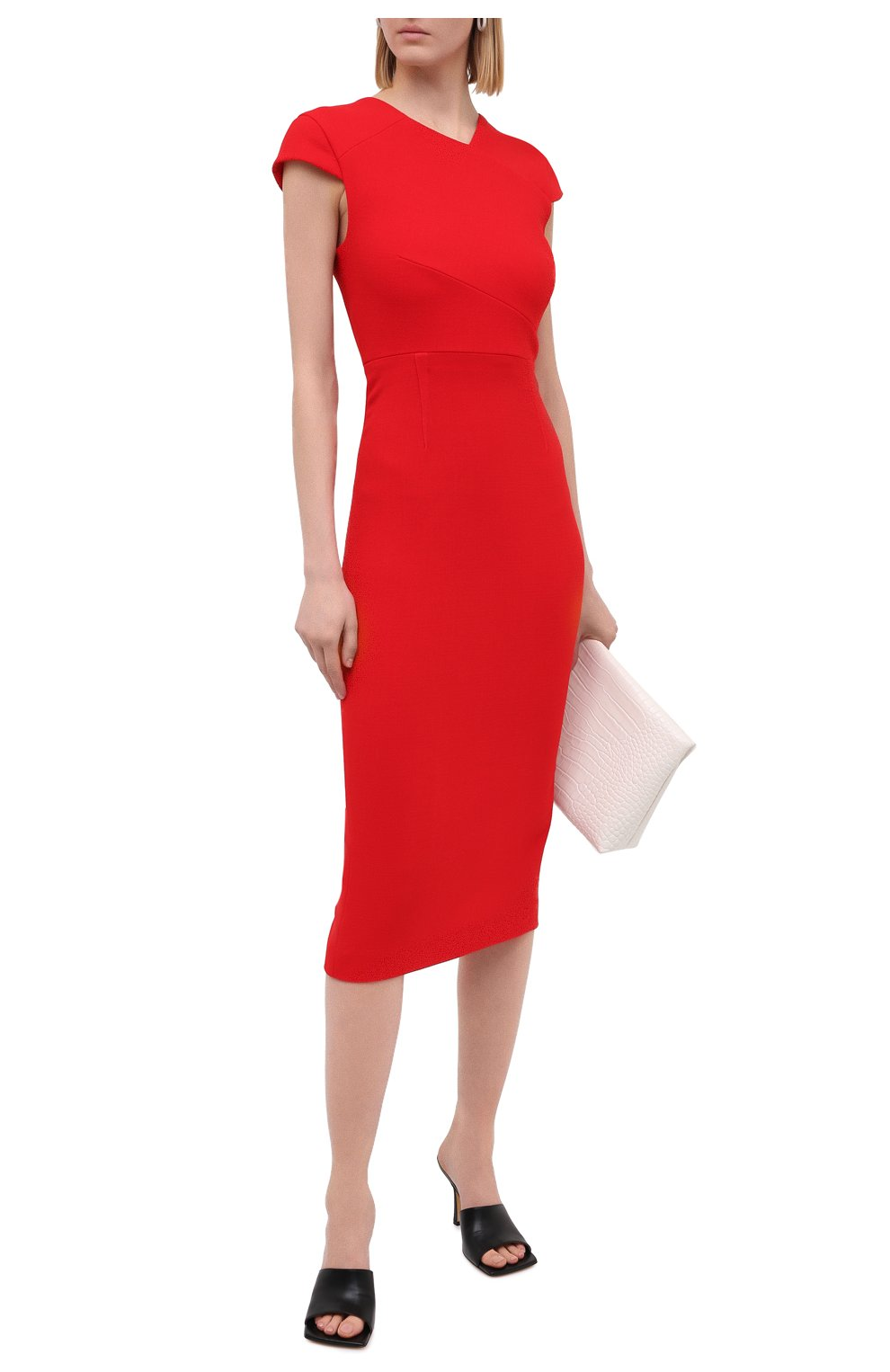 Женское шерстяное платье ROLAND MOURET красного цвета, арт. PW20/S0925/F4044   Фото 2