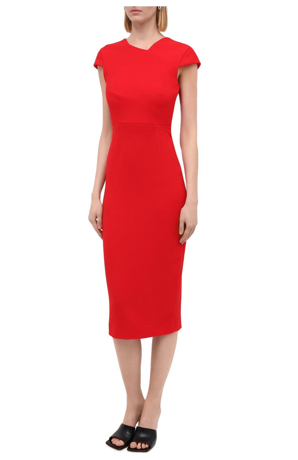Женское шерстяное платье ROLAND MOURET красного цвета, арт. PW20/S0925/F4044   Фото 3