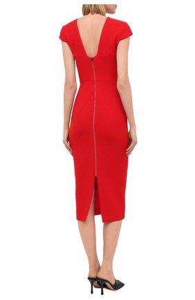 Женское шерстяное платье ROLAND MOURET красного цвета, арт. PW20/S0925/F4044   Фото 4