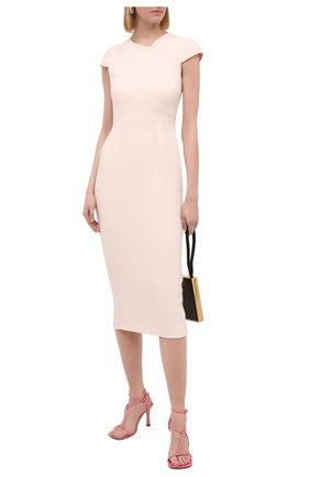 Женское шерстяное платье ROLAND MOURET светло-розового цвета, арт. PW20/S0925/F4044 | Фото 2